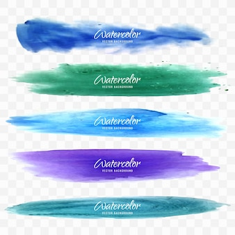 Disegni colorati acquerello impostato