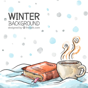 Disegno a mano sfondo invernale