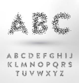 Disegno astratto alfabeto