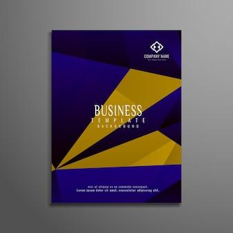 Disegno astratto colourful business brochure
