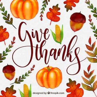 Disegno colorato di lettering di ringraziamento