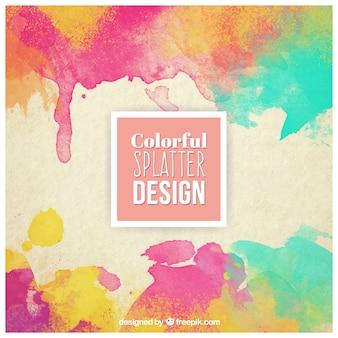 Disegno colorato splatter