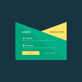 Disegno creativo di login design in stile geometrico