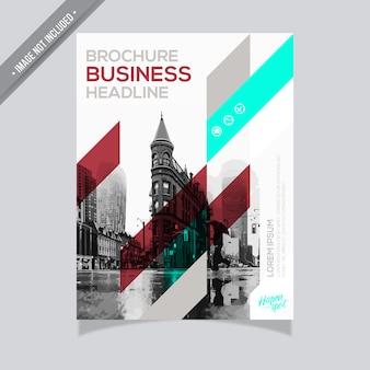 Disegno del brochure di affari dell'annata