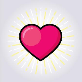 Disegno del cuore colorato