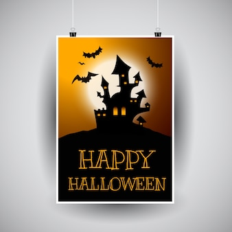 Disegno del flier di Halloween