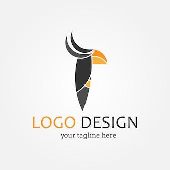 Disegno del logo dell'uccello
