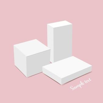 Disegno del modello della scatola bianca