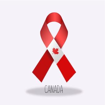 Disegno del nastro della bandierina del Canada