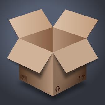 Disegno della scatola di consegna