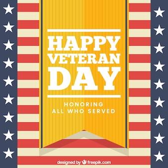 Disegno di giorno dei veterani in stile retrò