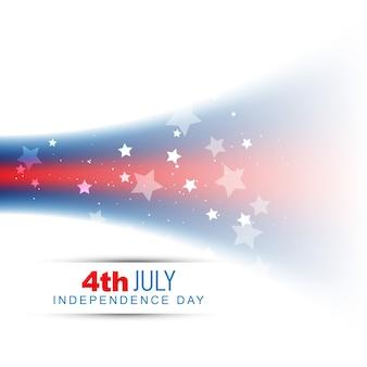Disegno di giorno dell'indipendenza americana dell'onda di stile di vettore
