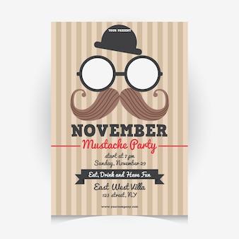 Disegno di poster di Movember