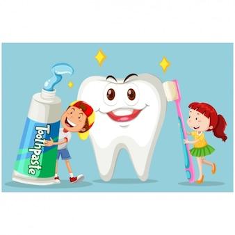 Disegno di sfondo Cure dentistiche
