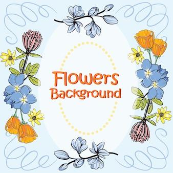 Disegno di sfondo dei fiori