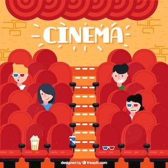 Disegno di sfondo del cinema