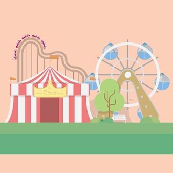 Disegno di sfondo del circo