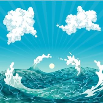 Disegno di sfondo del mare