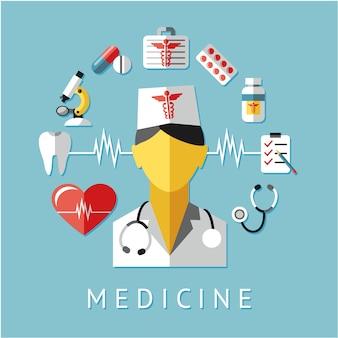 Disegno di sfondo della medicina