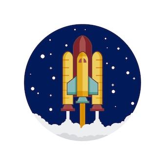 Disegno di sfondo della nave spaziale