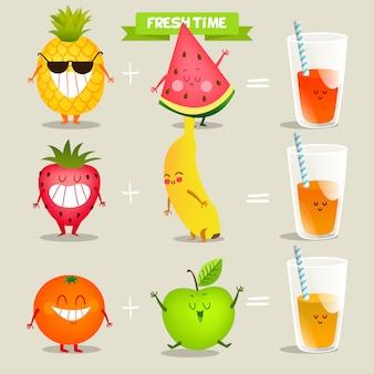 Disegno di sfondo della spremuta di frutta