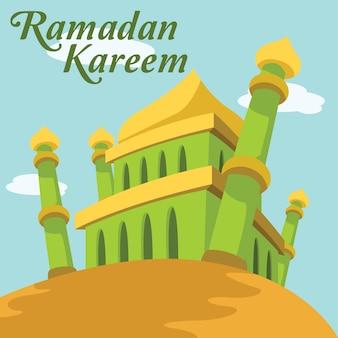 Disegno di sfondo il Ramadan