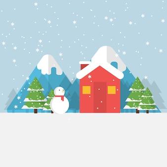 Disegno di sfondo invernale