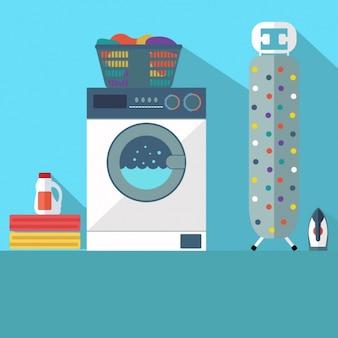 Disegno di sfondo lavanderia