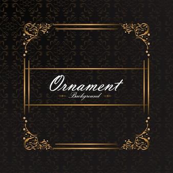 Disegno di sfondo ornamentali