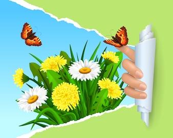 Disegno di sfondo Primavera