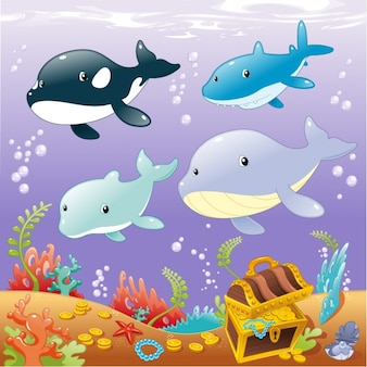 Disegno di sfondo Sealife