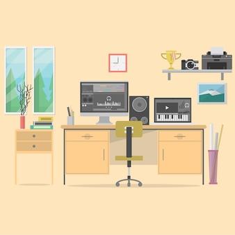 Disegno di sfondo Ufficio