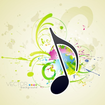 Disegno di sfondo vettoriale di stile musicale