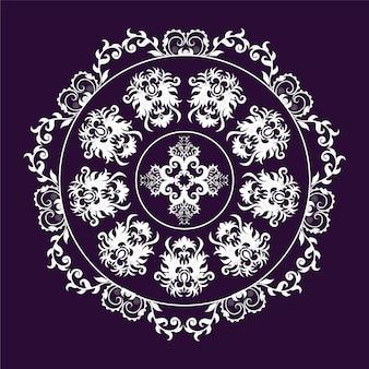 Disegno di sfondo Viola e bianco