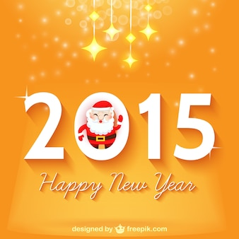 Disegno felice anno nuovo con Babbo Natale