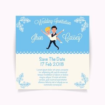 Disegno invito a nozze