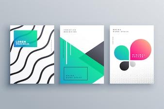 Disegno minimo della copertina del brochure del brochure per la vostra attività