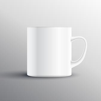 Disegno mockup di esposizione della tazza vuota