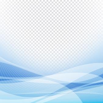 Disegno ondulato blu su sfondo trasparente