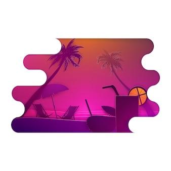 Disegno paesaggio estivo