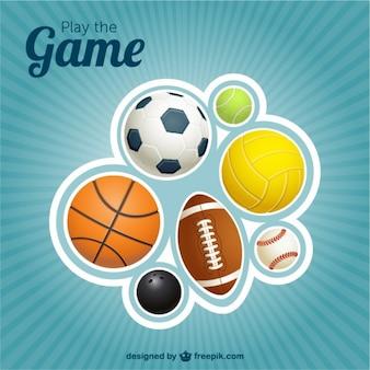 Disegno sport palle vettore