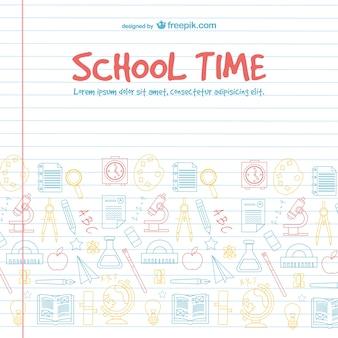 Disegno vettoriale tempo scuola