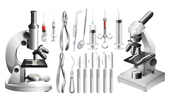 Diverse attrezzature mediche e strumenti