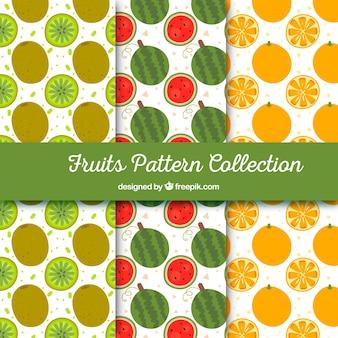 Diversi modelli con pezzi di frutta