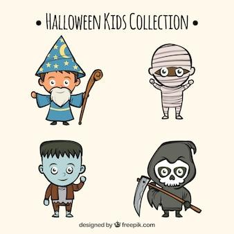 Divertente collezione di bambini di Halloween