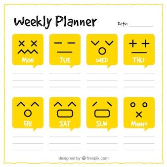 Calendario settimanale foto e vettori gratis for Pianificatore di blueprint gratuito