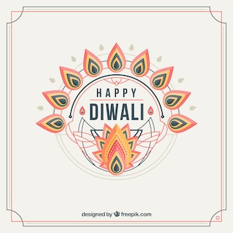 Diwali background whote