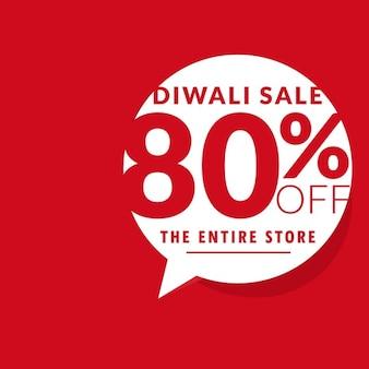 Diwali modello pulito offerta di vendita con la bolla di chat
