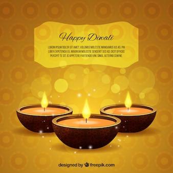 Diwali sfondo giallo