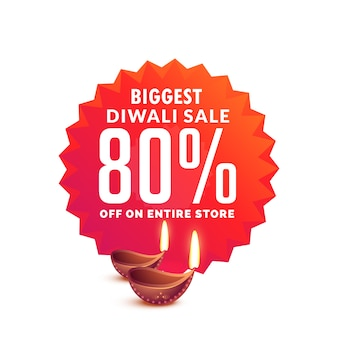 Diwali vendita sfondo con lampade diya